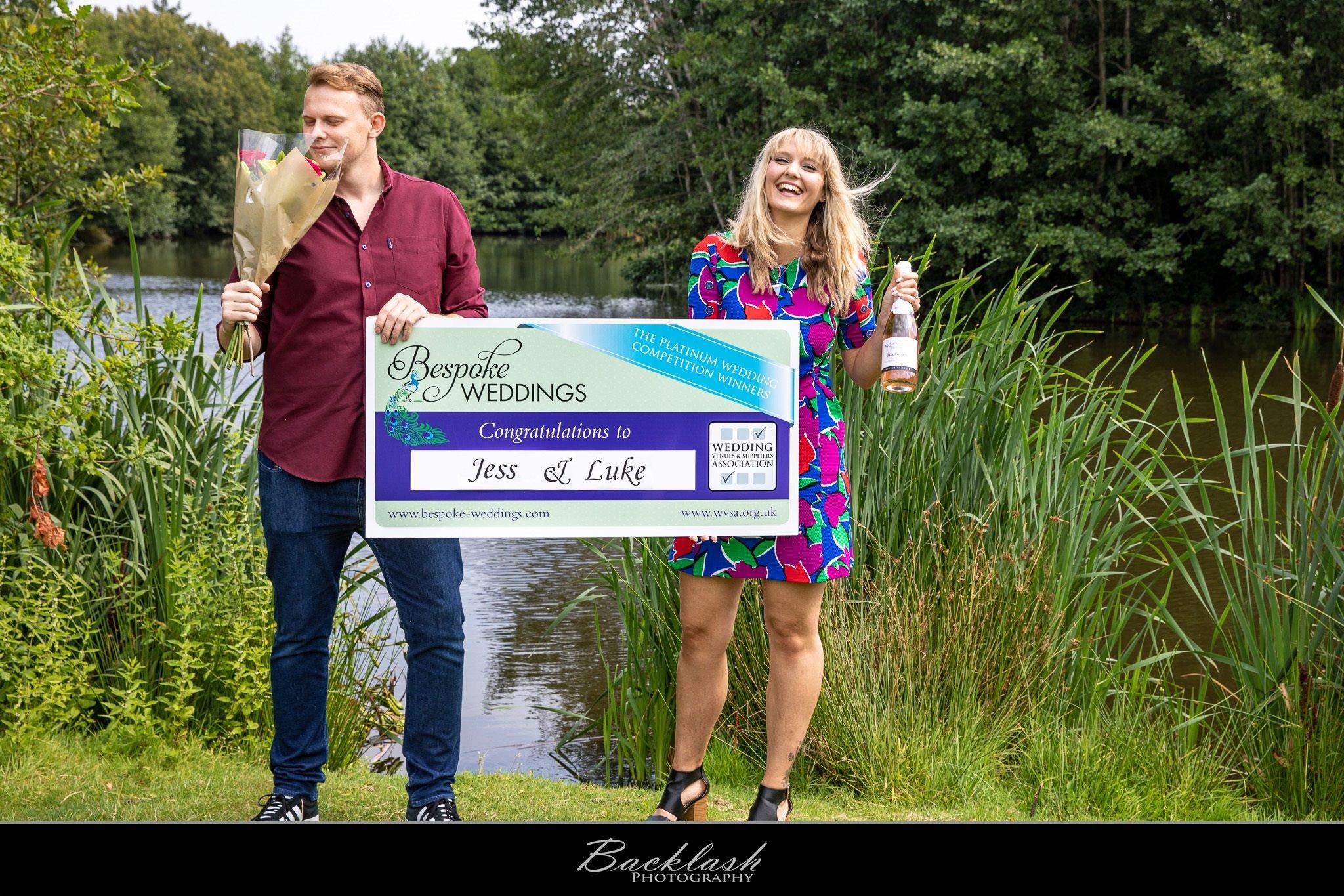Jess & Luke - Netley Hall - Cheque Presentation 1