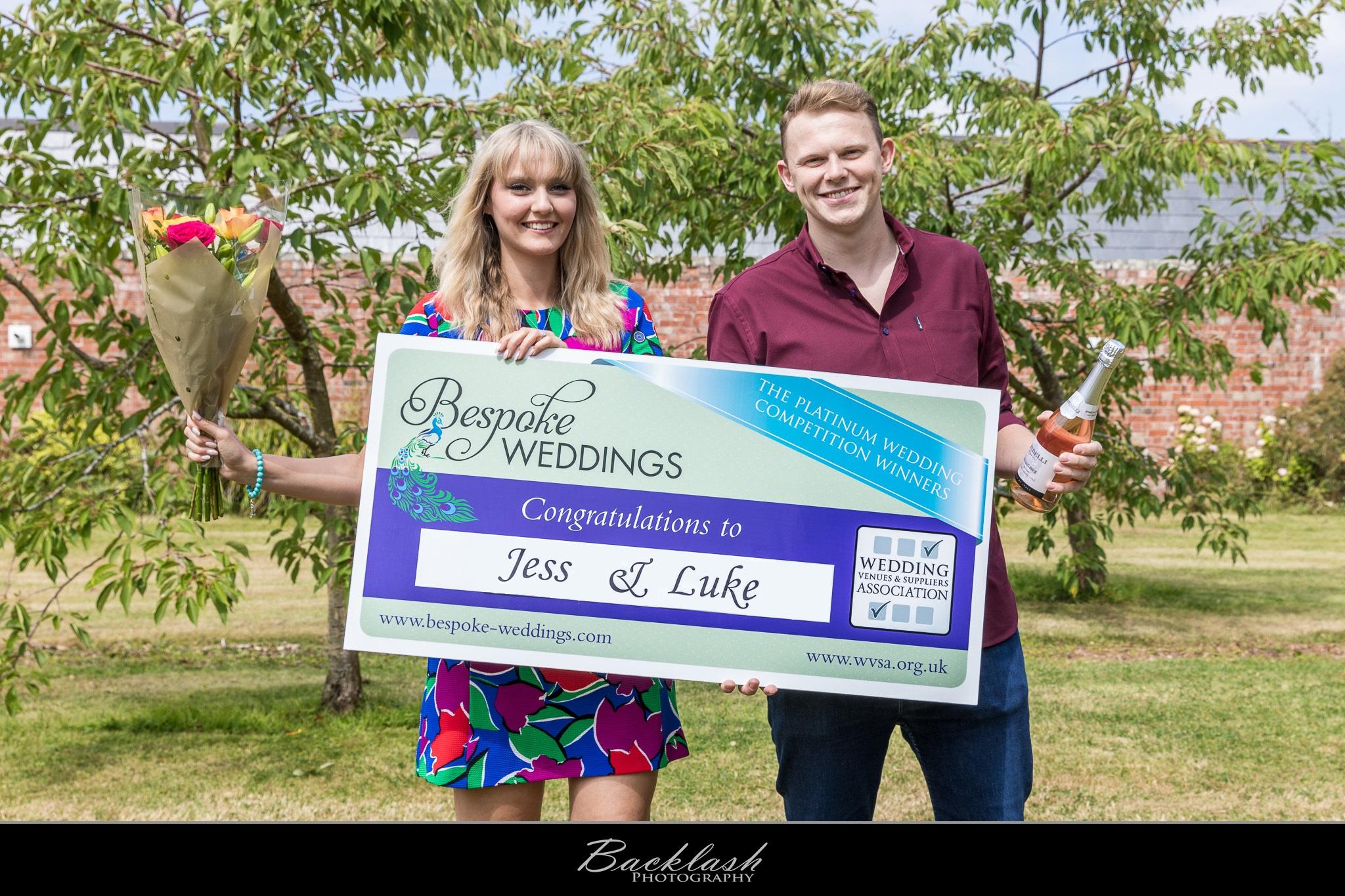 Jess & Luke - Netley Hall - Cheque Presentation 3