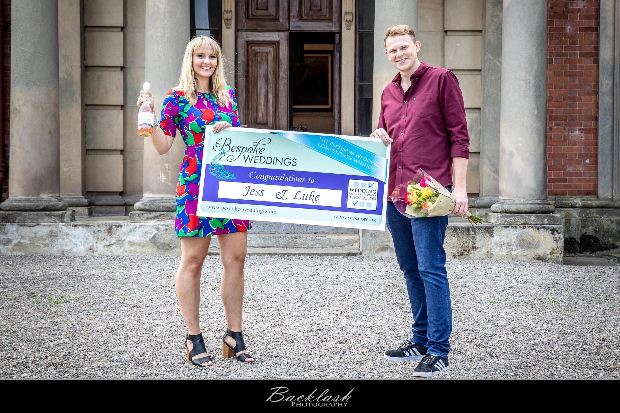 Jess & Luke - Netley Hall - Cheque Presentation 4