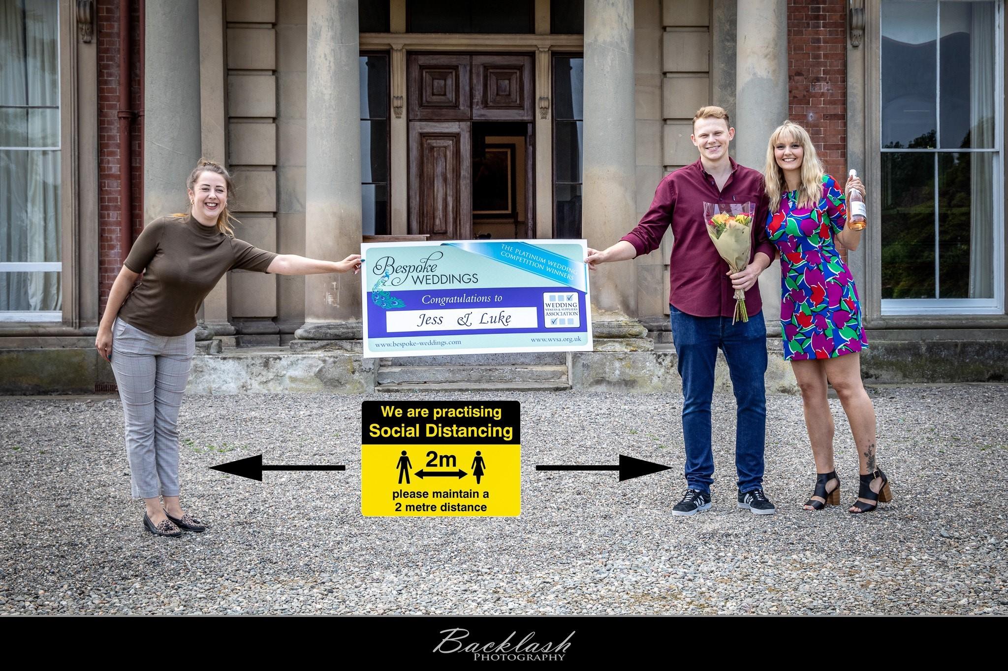 Jess & Luke - Netley Hall - Cheque Presentation