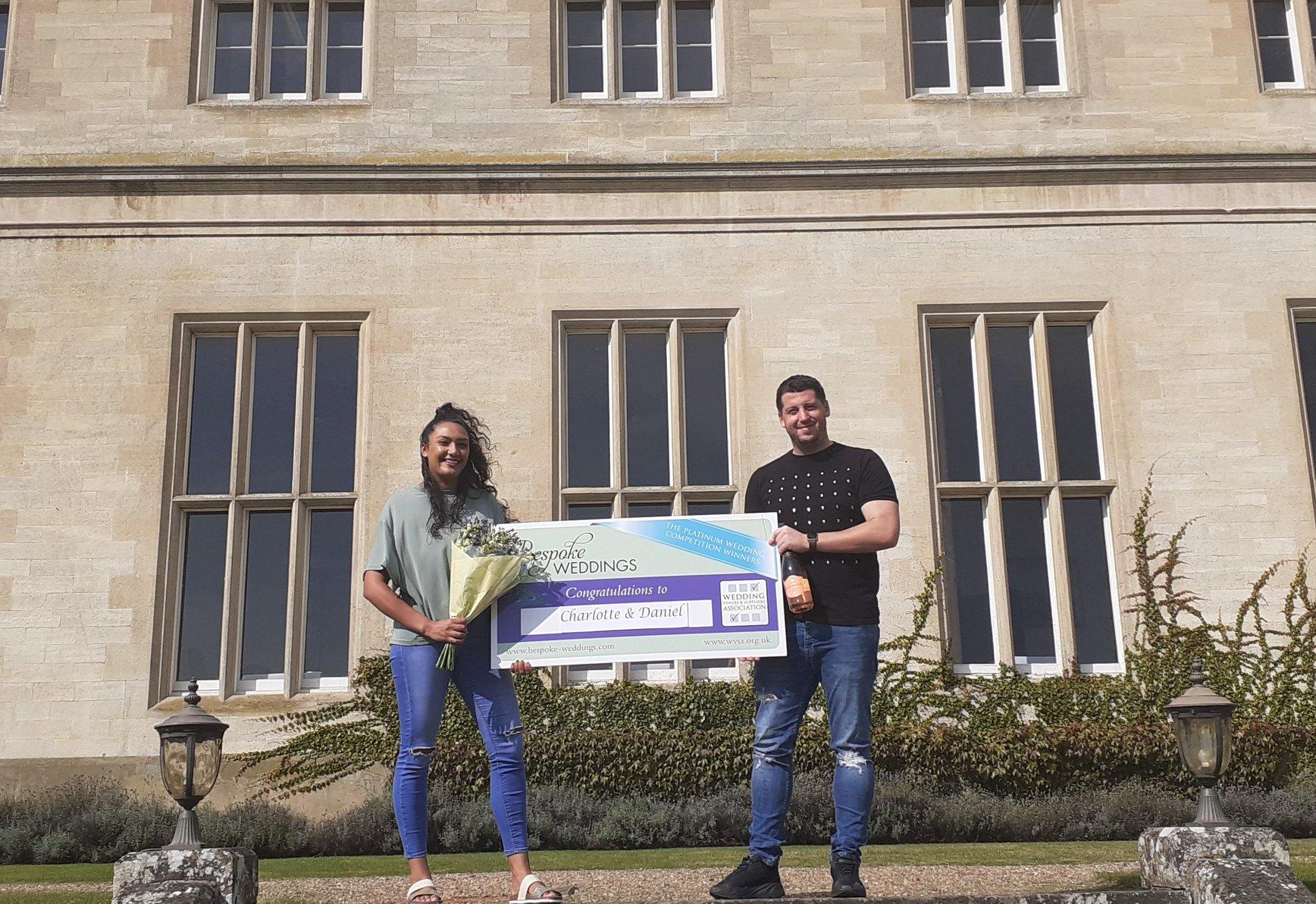 Charlotte & Daniel - Stoke Rochford - Cheque Presentation 4