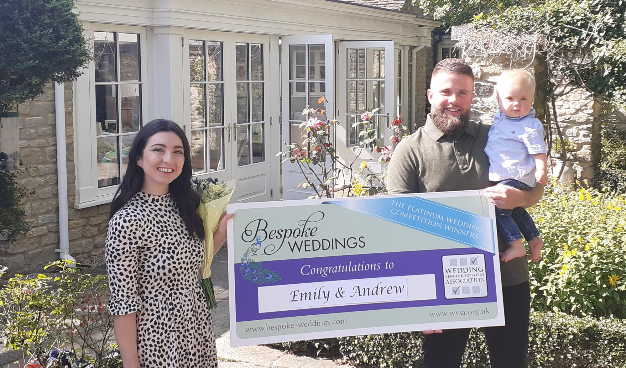 Emily & Andrew - Barnsdale Lodge - Cheque Presentation 1