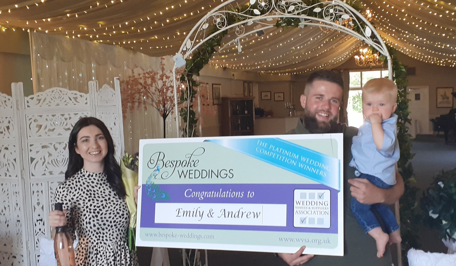 Emily & Andrew - Barnsdale Lodge - Cheque Presentation 2