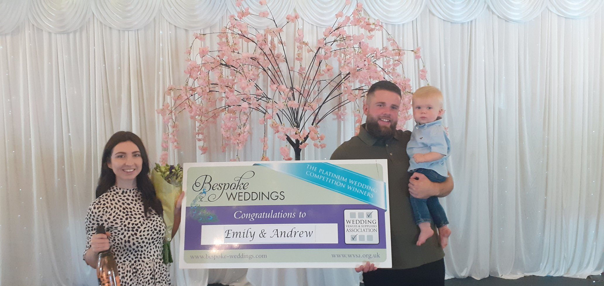 Emily & Andrew - Barnsdale Lodge - Cheque Presentation 3