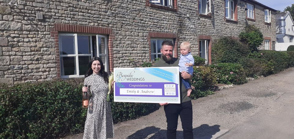 Emily & Andrew - Barnsdale Lodge - Cheque Presentation