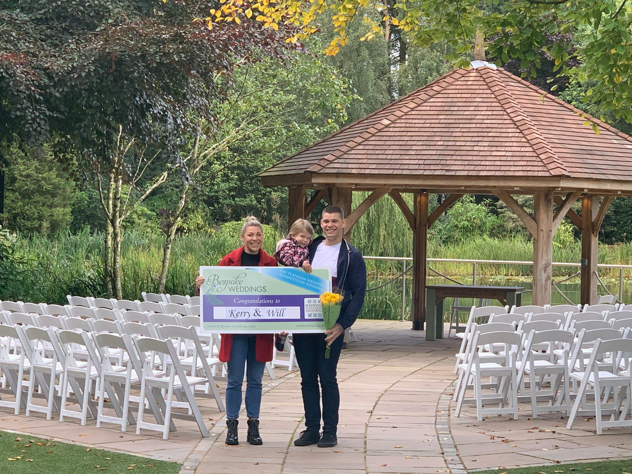 Kerry & Will - Moddershall Oaks - Cheque Presentation 2