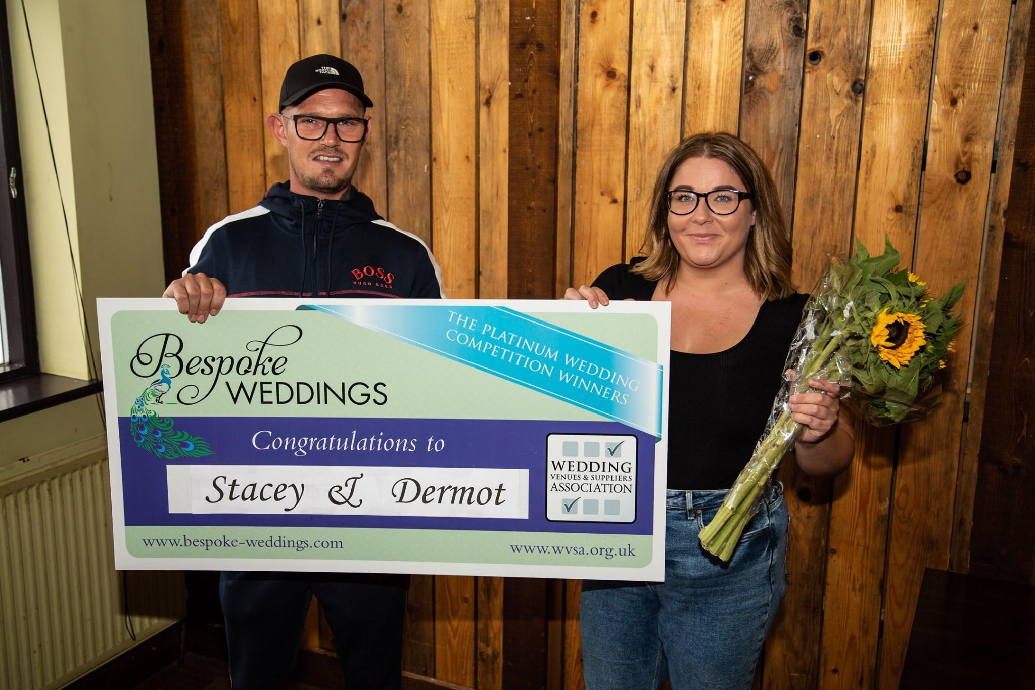 Stacey & Dermot - The Farmhouse - Cheque Presentation 2