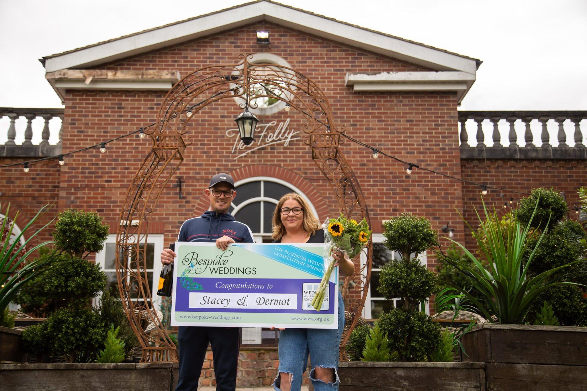 Stacey & Dermot - The Farmhouse - Cheque Presentation