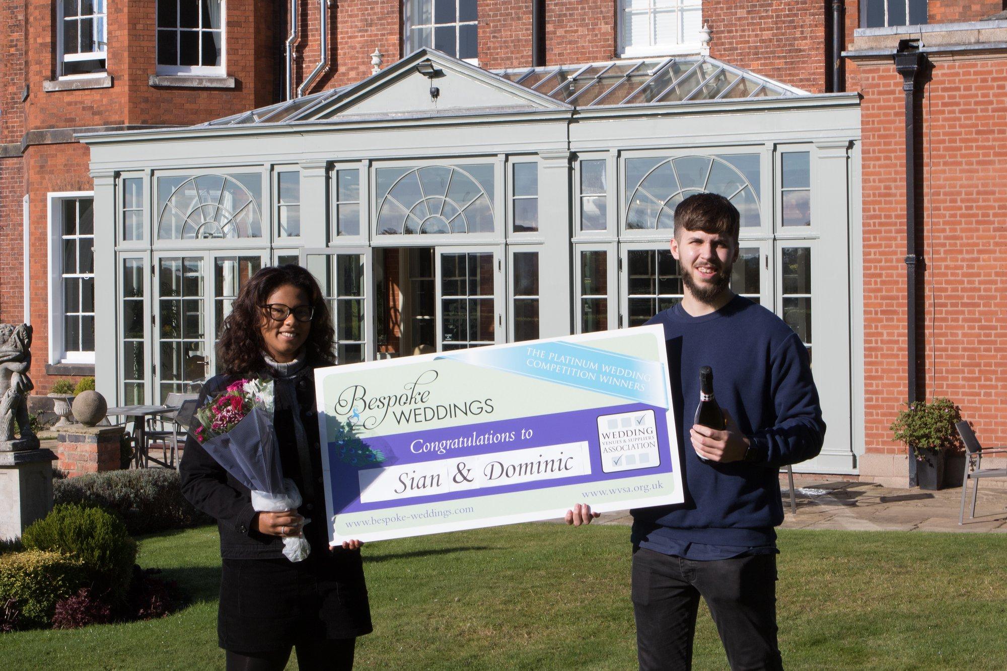 Sian & Dominic Dovecliff Hall Cheque Presentation 3