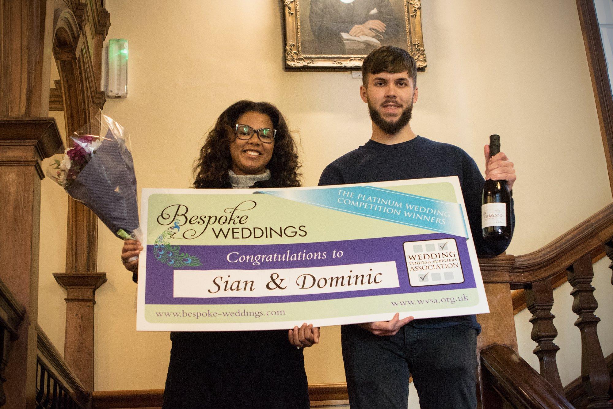 Sian & Dominic Dovecliff Hall Cheque Presentation 4